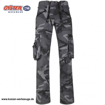 "Oyster Zunfthose ""Max"" Camouflage ohne Schlag, camo grau"